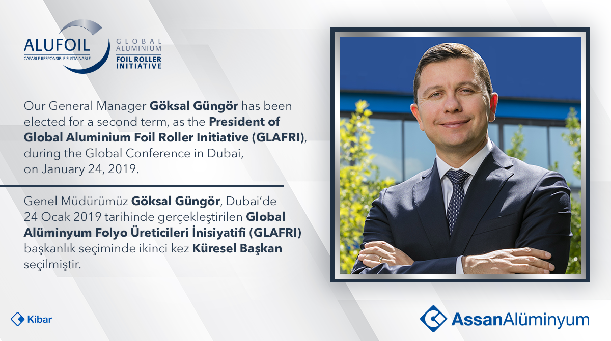 Our General Manager Göksal Güngör has been elected for a second term, as the President of GLAFRI.