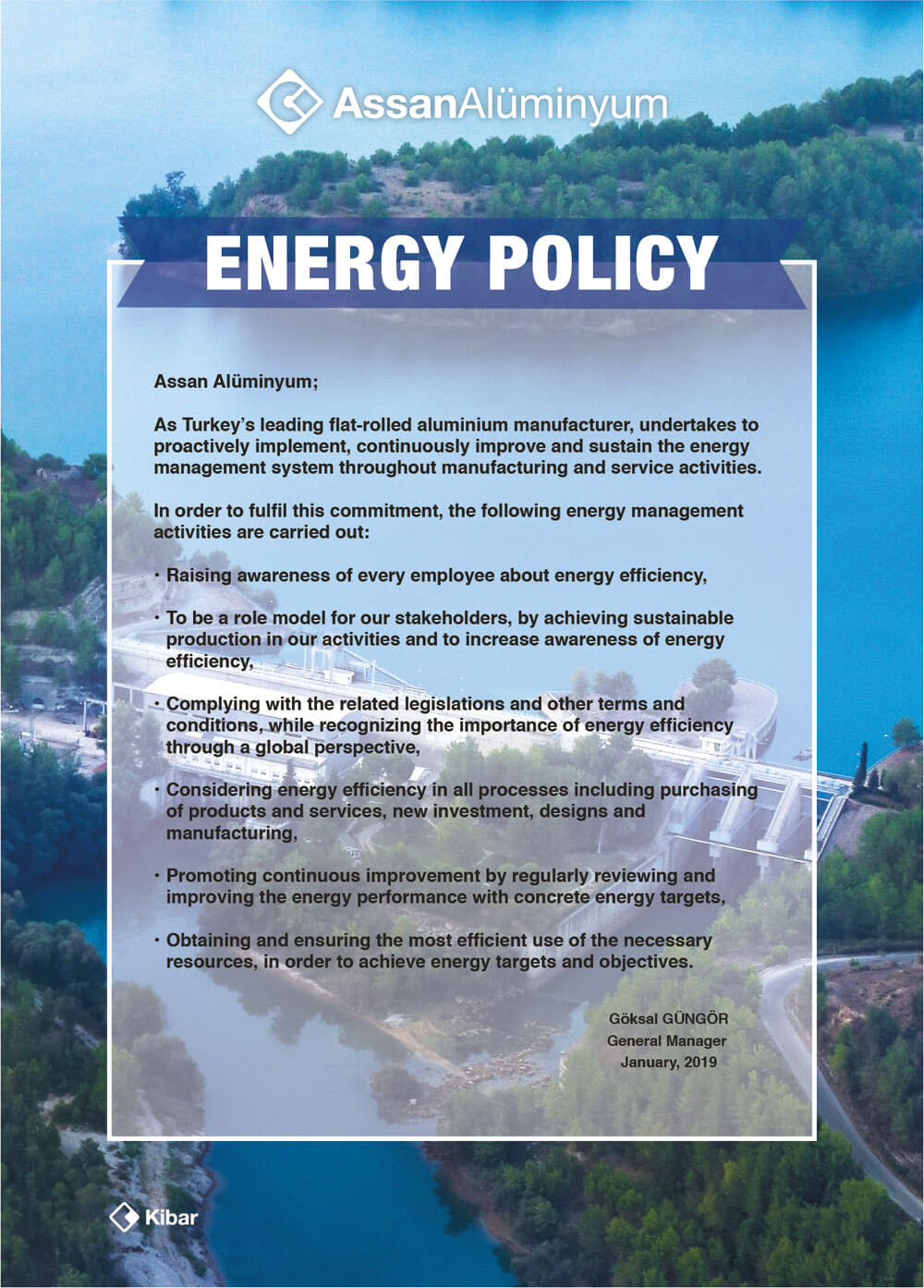 Assan Aluminyum Energy Policy